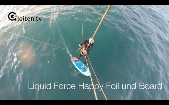gleiten tv :: Hydrofoil :: TEST Liquid Force Happy Foil und Board