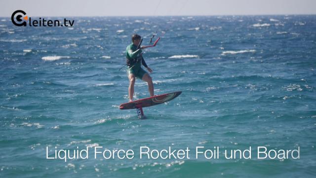 gleiten tv :: Hydrofoil :: Test Liquid Force Rocket Foil und Rocket